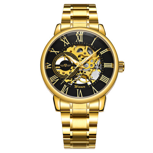 Classic Golden Skeleton Mechanical Watch - GaGodeal