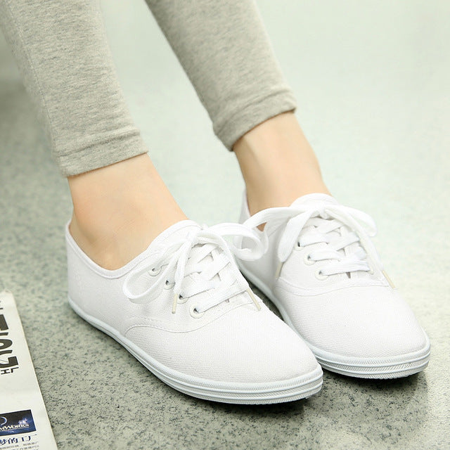 Canvas Shoes Lace Up - GaGodeal