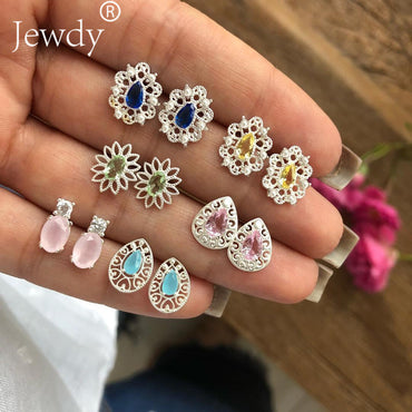 4 Pairs/Set Women Crystal Bohemian Earring