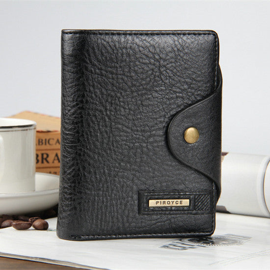 2018 New Genuine Leather Short Wallet