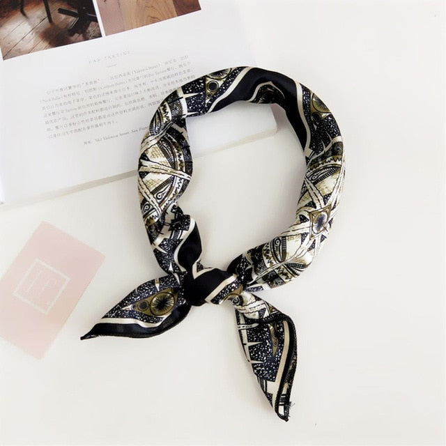 Fashion Women Silk Scarf. Best Gift For Girlfriend. Gift For Her
