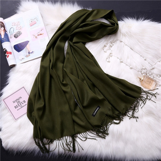 Trendy Fashion Cashmere Scarves For Women. Best Gift For Girlfriend. Gift For Mom
