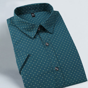New Men Shirts Brand Turn-down Collar Slim Fit