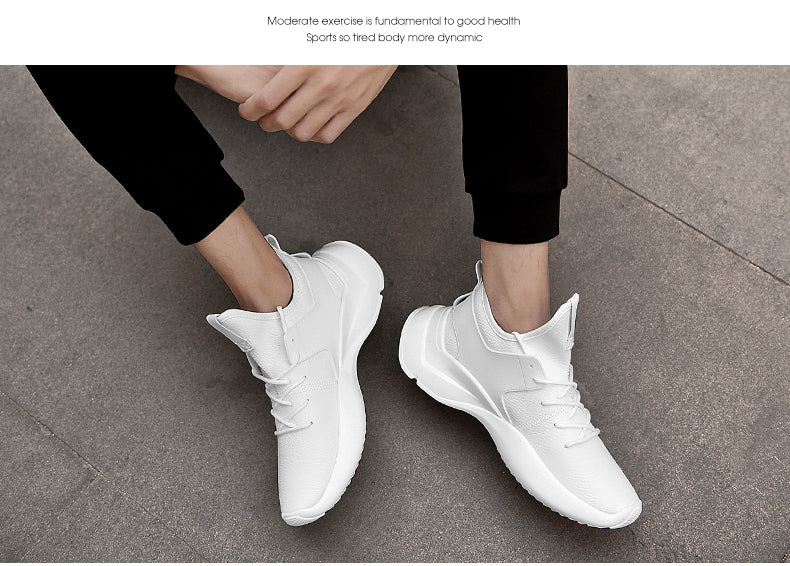 Times New Roman PU Leather Casual Shoes