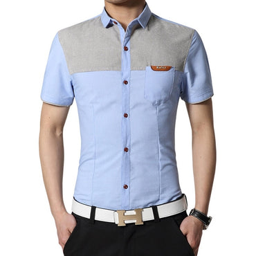 Male Social Shirt New Arrival Brand Men's Summer Business Shirt Slim Fit