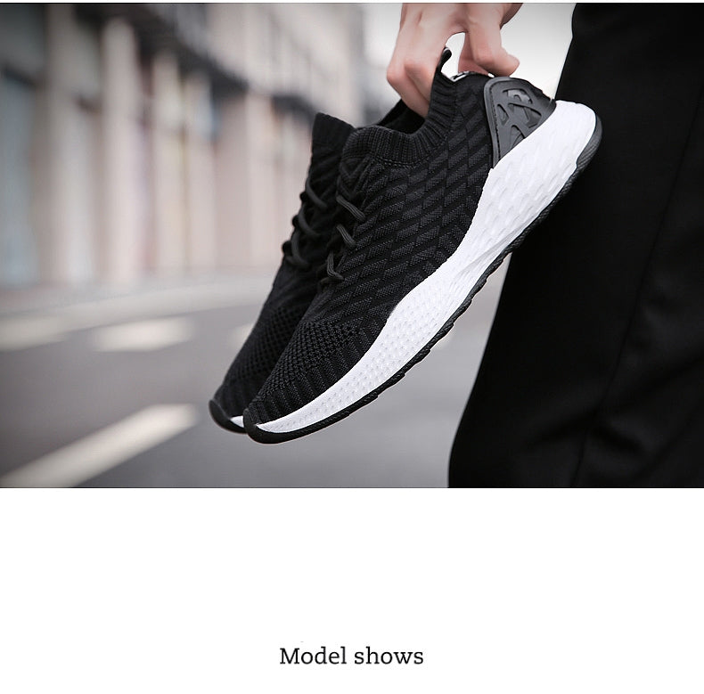 Red Black Gray High Quality Comfortable Non-slip Soft Mesh Men Shoes