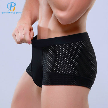 Breathable Mesh Silk Men's Boxer - GaGodeal