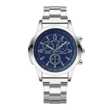New Arrivals Mens Watches Blue Ray Glass Stainless Steel Sports