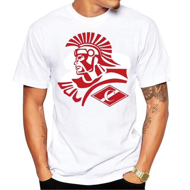 New Arrival T-Shirts Men for SPARTAK MOSCOW Logo Fashion Russian Premier League Printed