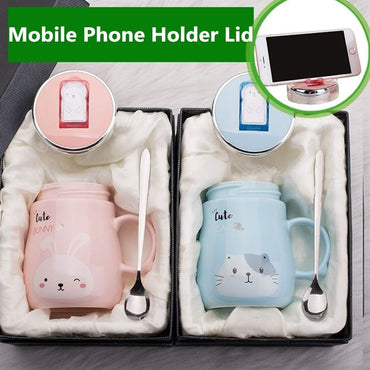Hot Sale Mobile Phone Holder Animal Ceramics Mugs