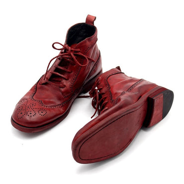 Luxury Handmade High Quality Retro Red Masculine Boot