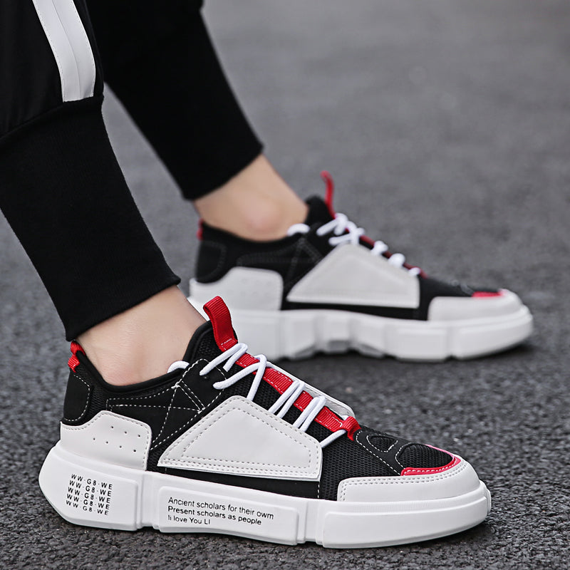 Fashion New Spring Men Shoes Casual Loafers Canvas Breathable Platform Sneakers