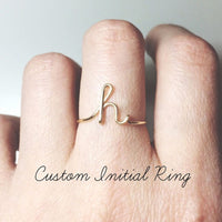 Unique Customized Letter Rings