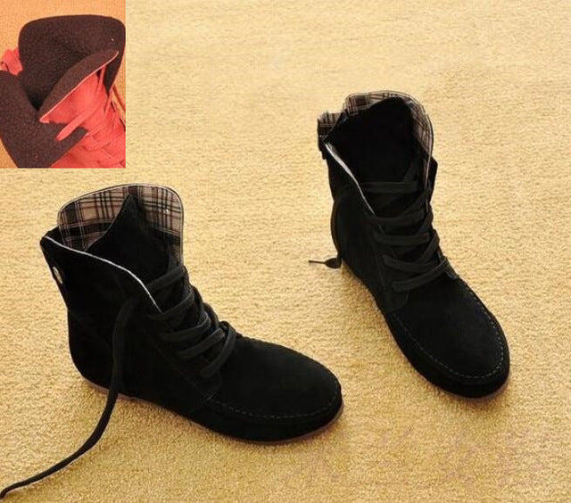 Flat Ankle Boots Suede