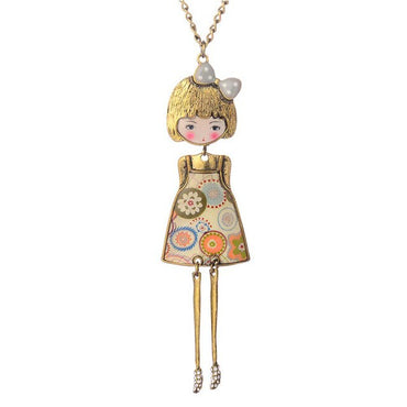 Women Necklace & Pendant Doll Lovely Flower Dress