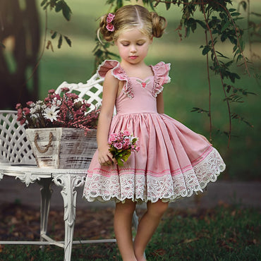 Girl Flower Pageant Party Cute Dress