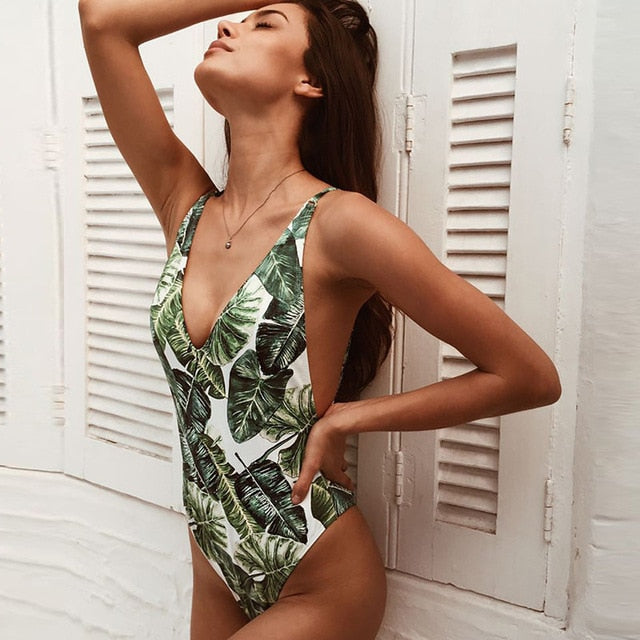 New Sexy One Piece Push Up Swimwear