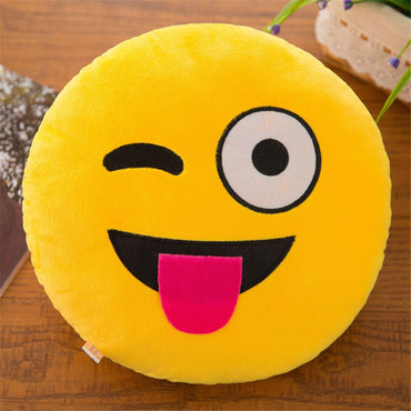 Soft Smiley Emoticon Stuffed Pillow