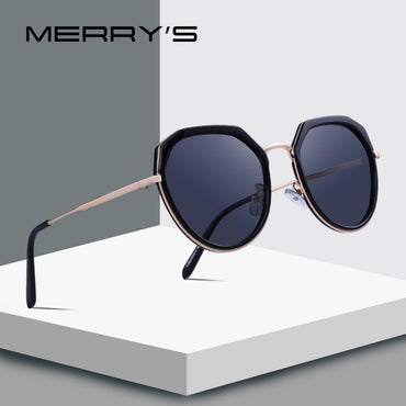 Women Luxury Polarized Sunglasses Metal Temple UV400 Protection