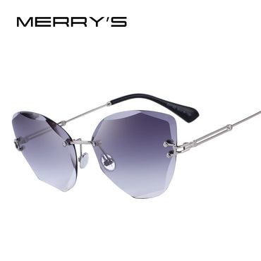 Women Rimless Sunglasses Gradient Lens UV400 Protection