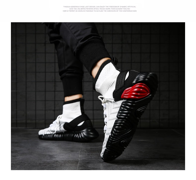 BomKinta Black White Red Mixed Colors Men Casual Shoes