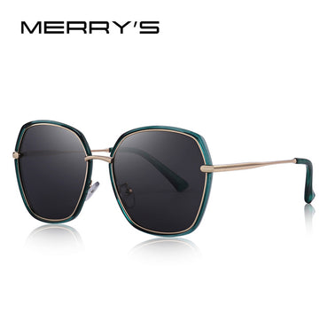 Women Luxury Shield Polarized Sunglasses Metal Temple UV400 Protection