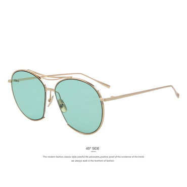 Women Bang Fashion Classic Design Vintage Twin Beam Sunglasses