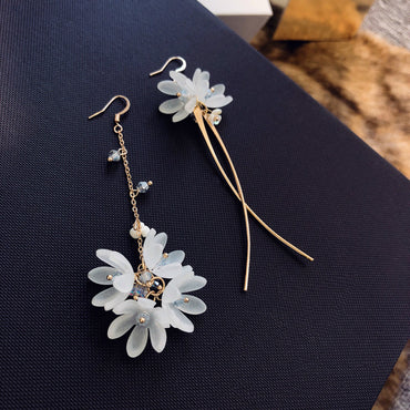 Acrylic Ethnic Flower Dangle Drops Earrings