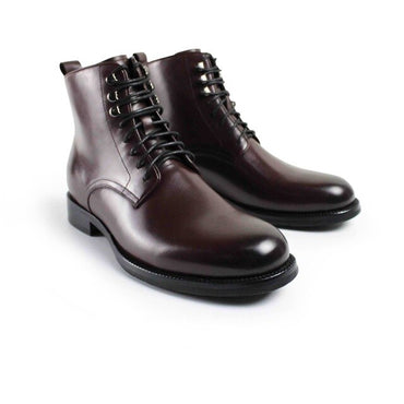 Casual Luxury Heel Ankle Elegant Genuine Leather Snow Winter Men Boots