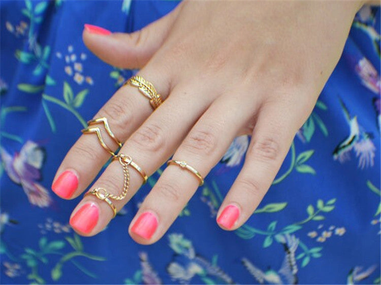 6pcs/lot Unique Adjustable Ring Set