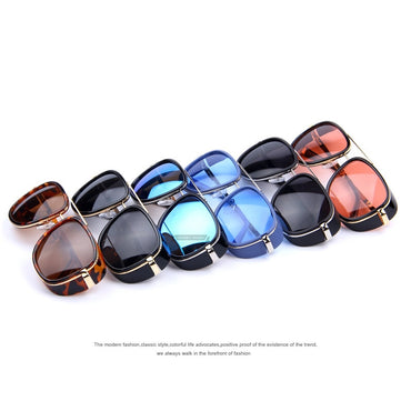 Matsuda Tony Stark Steampunk Mirrored Vintage women sunglasses