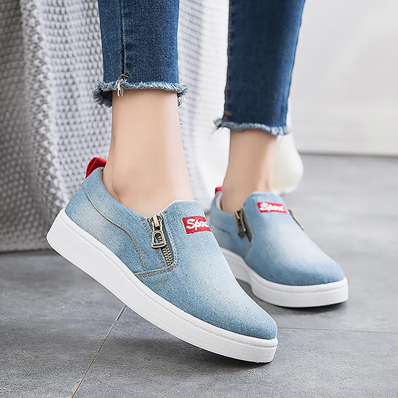 Women shoes new arrival fashion denim casual shoes
