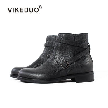 Luxury Casual Heel Ankle Elegant Genuine Leather Snow Winter Fur Men Design Boots