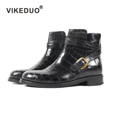 Custom Handmade Winter Fashion Luxury Office Genuine Leather Boots