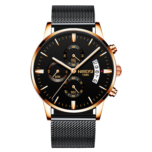 Men Watch Chronograph Top Brand Luxury Waterproof Full Steel Quartz Watch