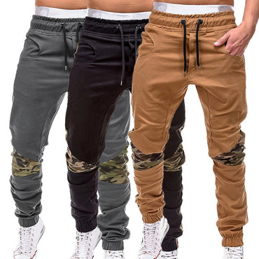 Camouflage Casual Pants Patchwork Sweatpants Male Cargo Pants