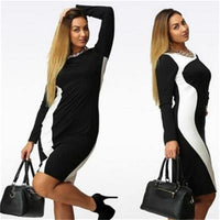 L - 6XL Plus Size Bandage Dress Slim Show Thin