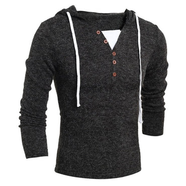 Brand Geek New Men's Sweaters Fashion Design Solid Hooded Knit Sweater