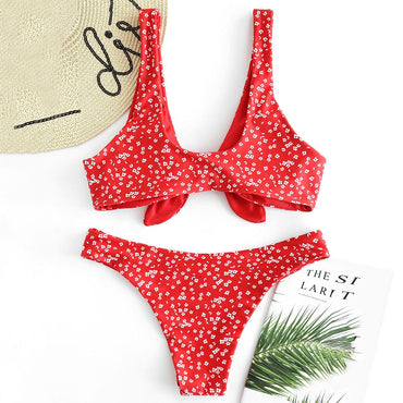 Sexy Flower Print Push Up Bandage Swimwear