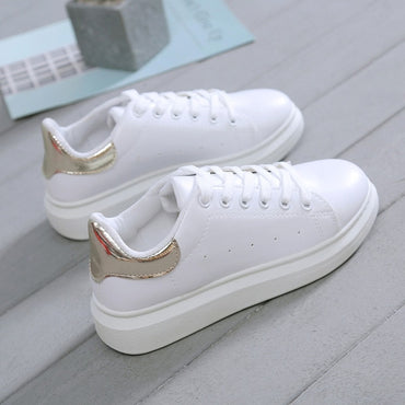 New Designer Shoes Woman Wedges Platform Sneakers Lace-Up Breathable