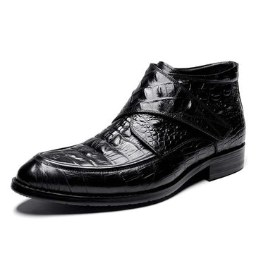 Mens Retro Carved Boots British Popular Hook & Loop  Martin Oxfords