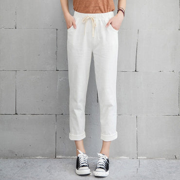 New Women Casual Harajuku Spring Autumn Big Size Long Trousers