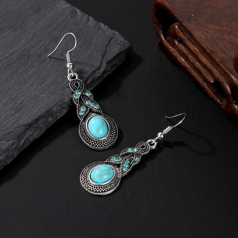 Korean Bohemian Jewelry New Crystal drop Earring For Women