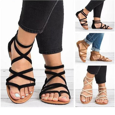 Summer Flip Flops Gladiator Sandals Shoes Beach Cross Sandals