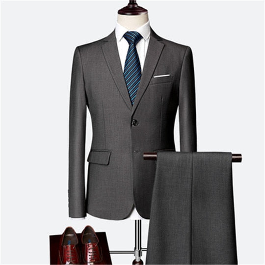 Jacket + Pant + Vest / New Men Business Slim Suits Sets Wedding Dress Three-piece