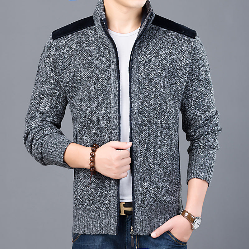 Mens Cardigan Slim Fit Jumpers Knitwear