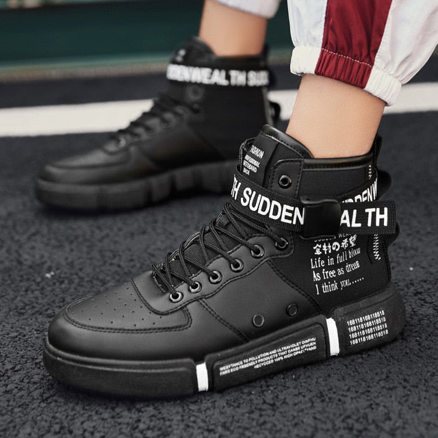 Leader Show Men's Fashion Casual Shoes High Top Sneaker