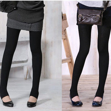 Winter Keep Warm New Multifunction Elastic Bamboo Charcoal Thicken Version Black Leggings