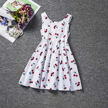 Girl Princess Party Floral Print Tutu Dress