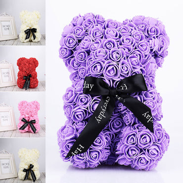 Lovely Artificial Rose Bear